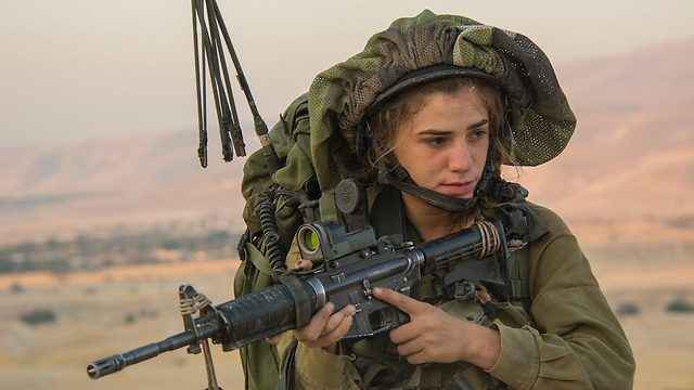 Female soldiers of the Lions of Jordan battalion (Photo: IDF Spokesperson's Unit)