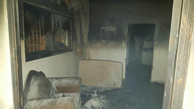 """אחד הבתים שהועלו באש (זכריא סדה, ארגון """"רבנים לזכויות אדם"""")"""