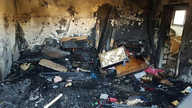 The charred remains of the Dawabsheh family home (Photo: Rabbis for Human Rights)