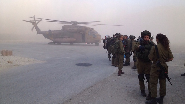 Evacuating the wounded (Photo: IDF Spokesman)