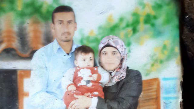 The Dawabsheh family, whose home was set ablaze this week (Photo: Hassan Shaalan)
