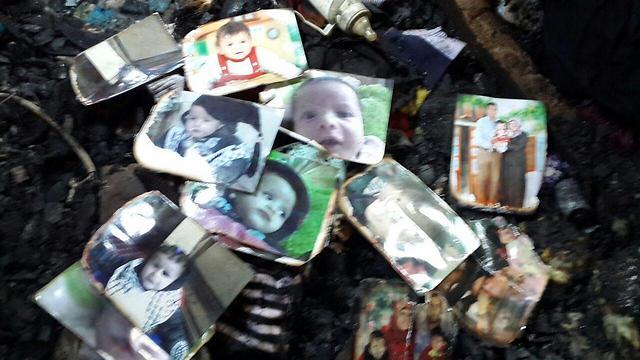 התמונות שנשארו אחרי ההצתה (צילום: חסן שעלאן)