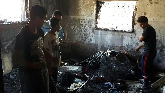 Charred remains of the Dawabsheh family home (Photo: Mohammad Shinawi) (Photo: Muhammad Shinawi)