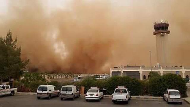 The massive sand storm in Amman