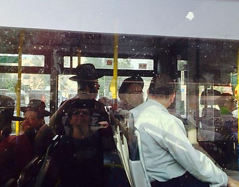 Haredi men on Egged bus. 'The boy began inciting all the other men, who backed everything he said'