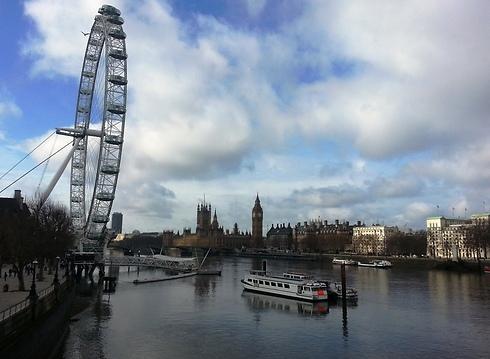 """""""לונדון איי"""". אלמנט שנוי במחלוקת בנוף (צילום: דני שדה)"""