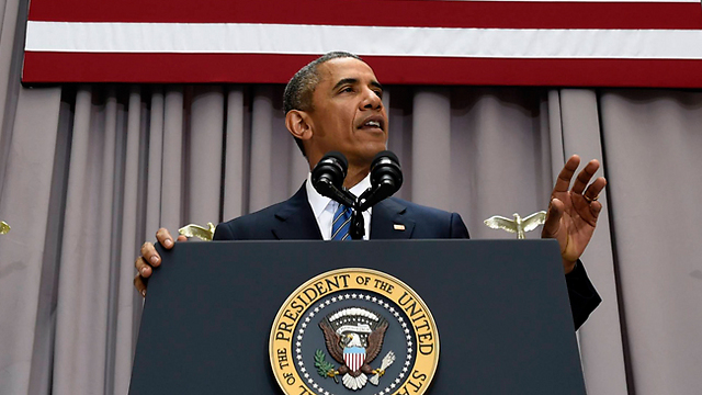 Obama speaking at American University on Wednesday (Photo: AP)
