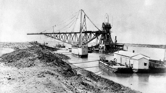 בניית התעלה, 1869 (צילום: AFP) (צילום: AFP)