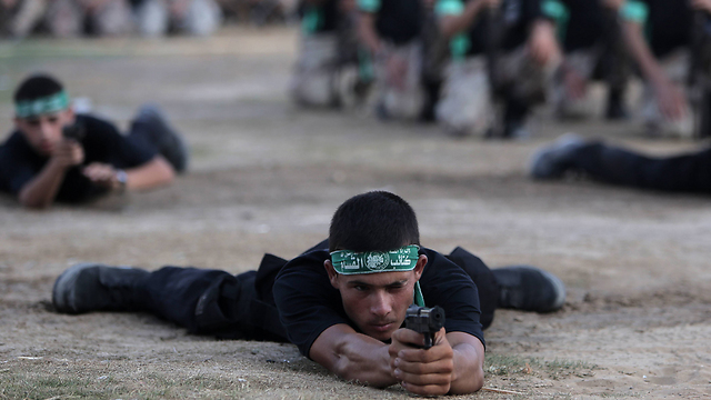 Hamas summer camp closing ceremony (Photo: AP)