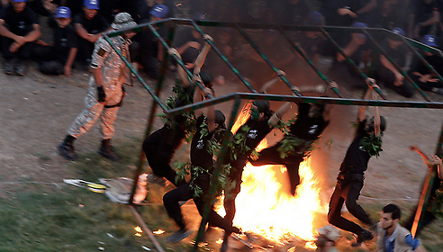 Hamas summer camp closing ceremony (Photo: EPA)