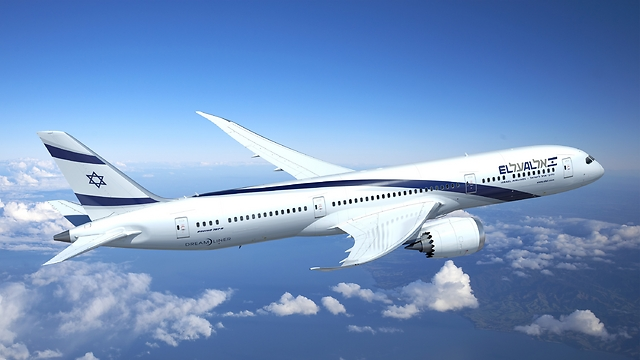A simulation in 787 in ElAl colors (Photo: Boeing)