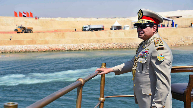 Al-Sisi inaugurates new Suez Canal. A missed opportunity? (Photo: EPA)