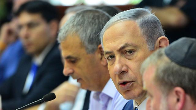 Prime Minister Benjamin Netanyahu at the budget meeting  (Photo: GPO)