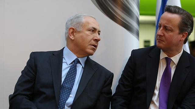 Netanyahu and British Prime Minister David Cameron. (Photo: Gil Yohanan) (Photo: Gil Yohanan)