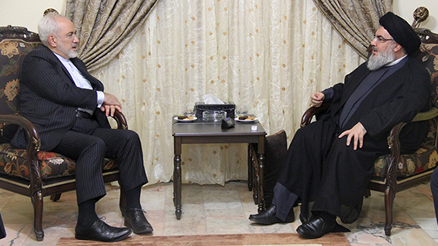 Iranian FM Zarif meeting with Hezbollah leader Nasrallah in Beirut (Photo: Reuters) (Photo: Reuters)