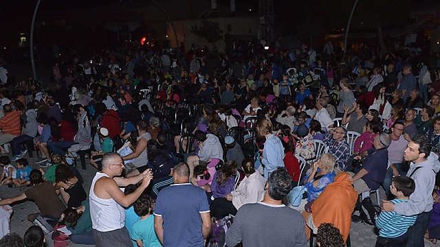 Thousands gather at Mitzpe Ramon (Photo: GPO)