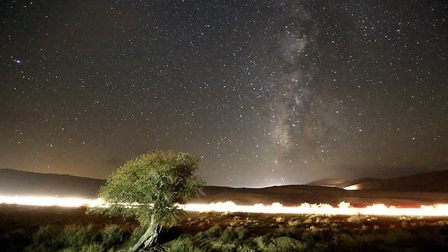 Meteor shower at Mitzpe Ramon (Photo: EPA)