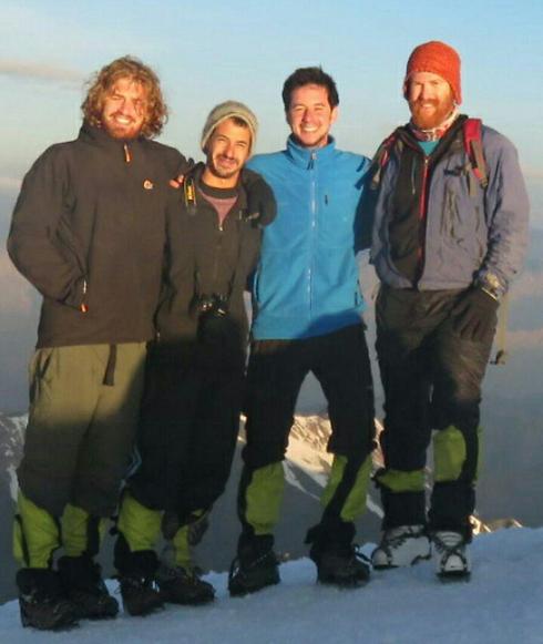 מימין: סדן, גרינבלט, קרסו ואור על הפסגה ()