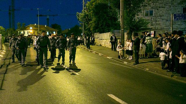 הפגנת החרדים על פתיחת יס פלאנט בשבת (צילום: אוהד צויגנברג, ידיעות אחרונות)