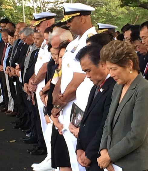 הטקס בפרל הארבור (צילום: AP) (צילום: AP)