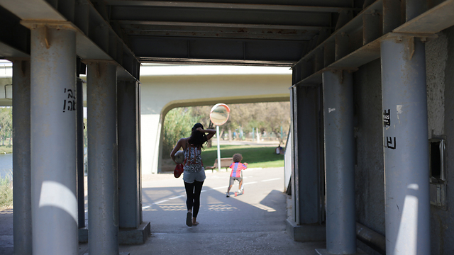 תופסים צל בפארק הירקון  (צילום: ירון ברנר) (צילום: ירון ברנר)
