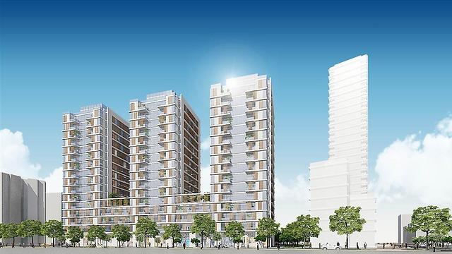 """הדמיית הפרויקט החדש בשכונת כפר שלם בדרום ת""""א (הדמיה: אבנר ישר אדריכלים)"""