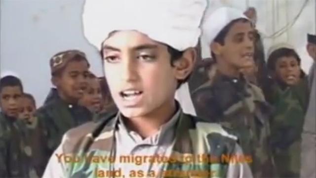 Hamza bin Laden in an undated video.