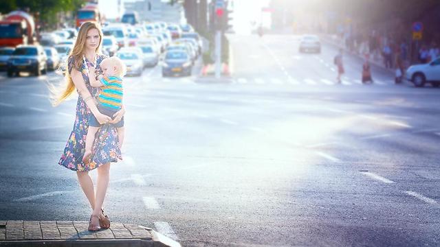 """אנוצ'קה גל: """"אני לא יכול לתזמן את הרגע שהתינוק רעב""""  (צילום: קרן דניאלי-קסנר) (צילום: קרן דניאלי-קסנר)"""