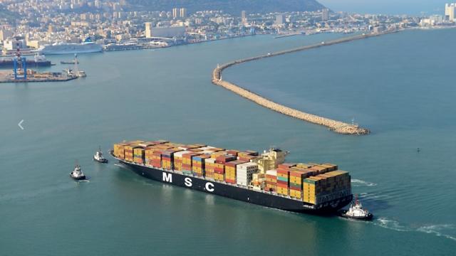 ספינת MSC ARICA (באדיבות נמל חיפה) (באדיבות נמל חיפה)