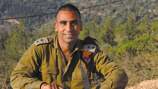 Lt. Colonel Siman-Tov before the injury (Photo: Avihu Shapira)