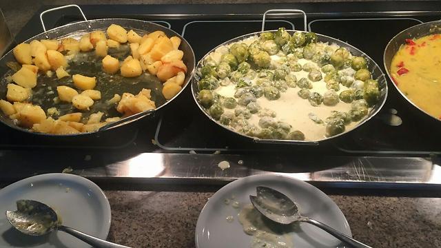 המזון שהוגש במלון ()