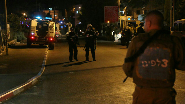 Security forces respond to attack (Photo: Hillel Meir/Tazpit News Agency)
