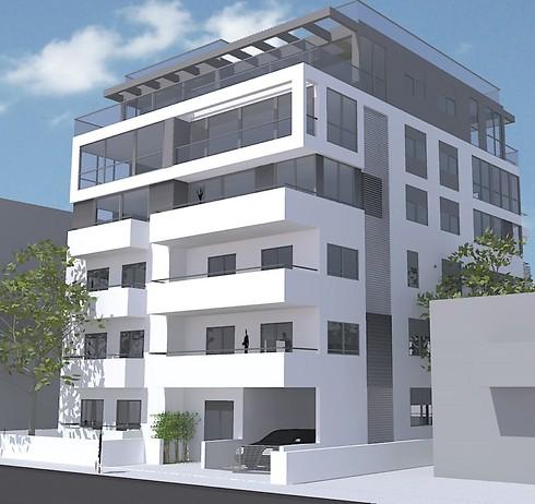 הדמיית הפרויקט החדש של חברת בנייני העיר הלבנה (הדמיה: בנייני העיר הלבנה) (הדמיה: בנייני העיר הלבנה)