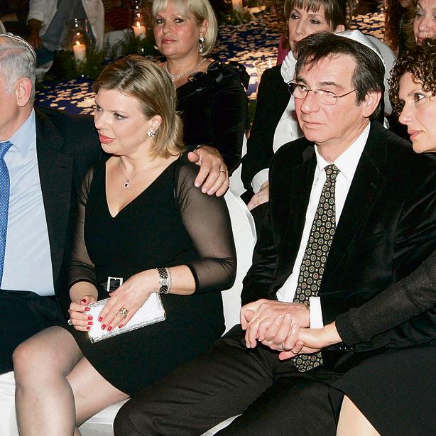 יש לך חומר טוב. עם גרושתו וישינסקי והחברים שרה ובנימין נתניהו | צילום: רפי דלויה (קרדיט ידיעות אחרונות)