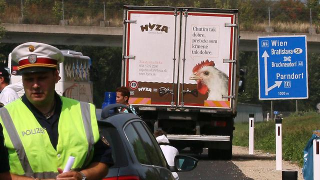אזור מציאת המשאית באוסטריה (צילום: AP) (צילום: AP)