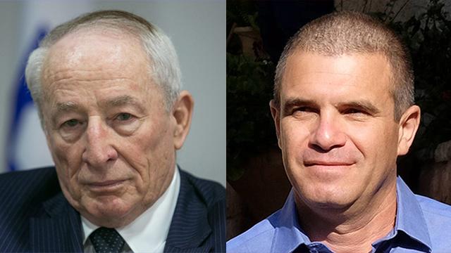 Attorney General Yehuda Weinstein (right) and  Brig. Gen. (Res.) Gal Hirsch (Photos: Yariv Katz, Ohad Zwigenberg)