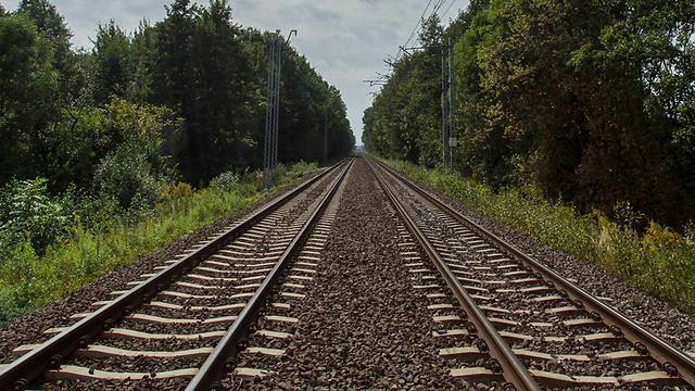 מסילת הרכבת בפולין, באזור שבו אותרה הרכבת (צילום: EPA) (צילום: EPA)