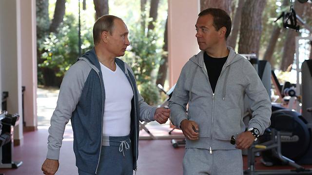 Путин и Медведев. Фото: ЕРА
