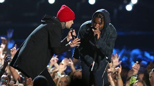 Twenty One Pilots עם A$AP Rocky  (צילום: רויטרס) (צילום: רויטרס)