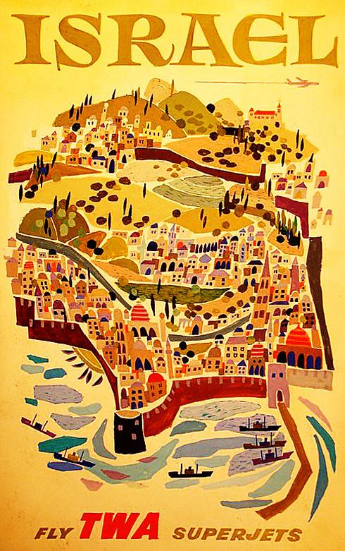 בשנת 1970 הוחלף איור תיבת נוח של TWA בירושלים שבתוך החומות ()