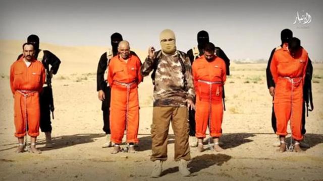 ארגון הטרור הוציא להורג בשריפה ארבעה אנשי מיליציה שיעים בעיראק ()