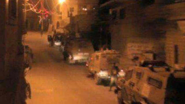 IDF troops at the scene of the firefight in Jenin.