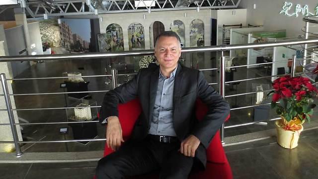 Bashar Al-Masri, President of Massar International and creator of Rawabi (Photo: Felice Friedson/The Media Line)