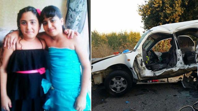 שתי נערות שנהרגו בכביש ב-2015 (צילום: דוברות איחוד הצלה כרמל) (צילום: דוברות איחוד הצלה כרמל)