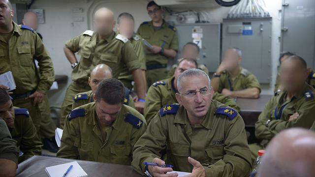"""מפקד חיל הים בתרגיל  (צילום: דובר צה""""ל) (צילום: דובר צה"""