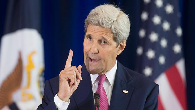 קרי בנאום נרגש על תמיכתו בישראל (צילום: EPA) (צילום: EPA)