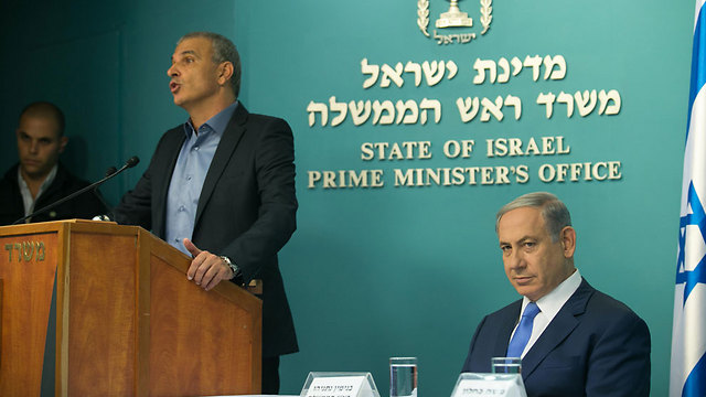 Netanyahu and Kahlon: Tax cuts for all. (Photo: Ohad Zwigenberg, Yedioth Ahronoth)