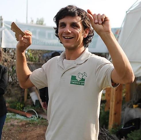 יניב פילדסט בגן הסולארי (צילום: בני אדם)