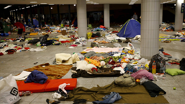 Belongings left behind at the station (Photo: Reuters)