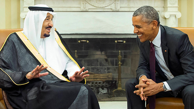 Obama with the Saudi King (Photo:AP)